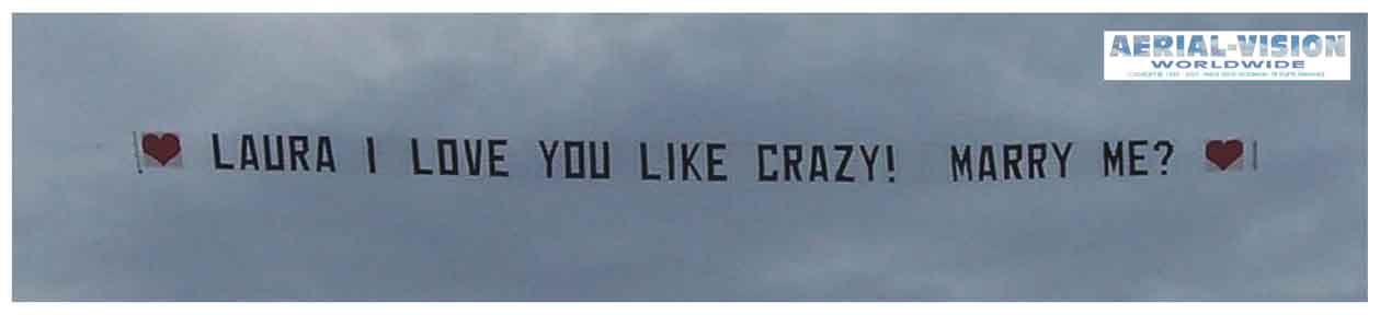 Personal Message Airplane Banners